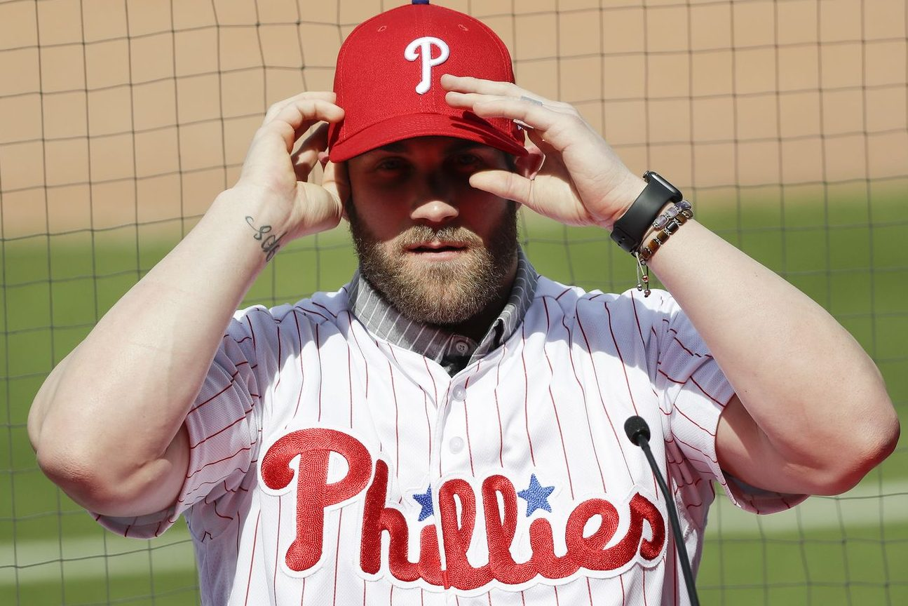 Bryce Harper signing a 13 year $330 million contract with the Phillies