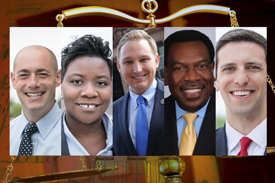 Cincinnati City Council members: Wendell Young, P.G. Sittenfeld, Tamaya Dennard, Chris Seelbach and Greg Landsman