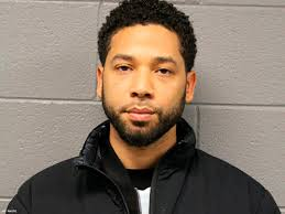 Jussie Smollet's mug shot, taken at a Chicago police station
