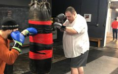 Dr. Matt Wahlert working on his 150 lb. weight loss pledge.