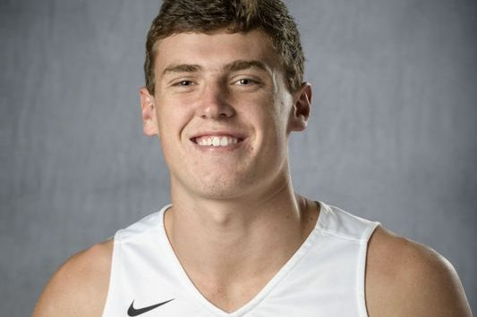 Ryan Custer as an incoming freshman basketball scholarship player at Wright State.