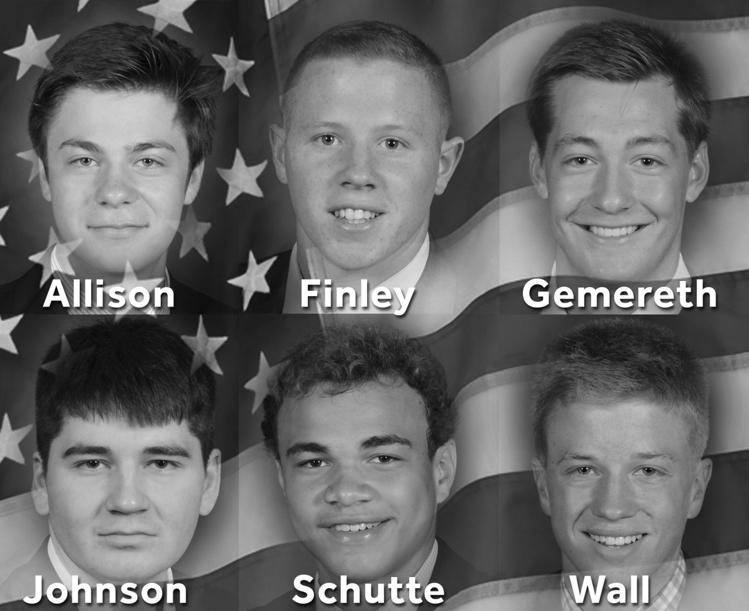 Photoshop of six Elder High School seniors committed to serving their country