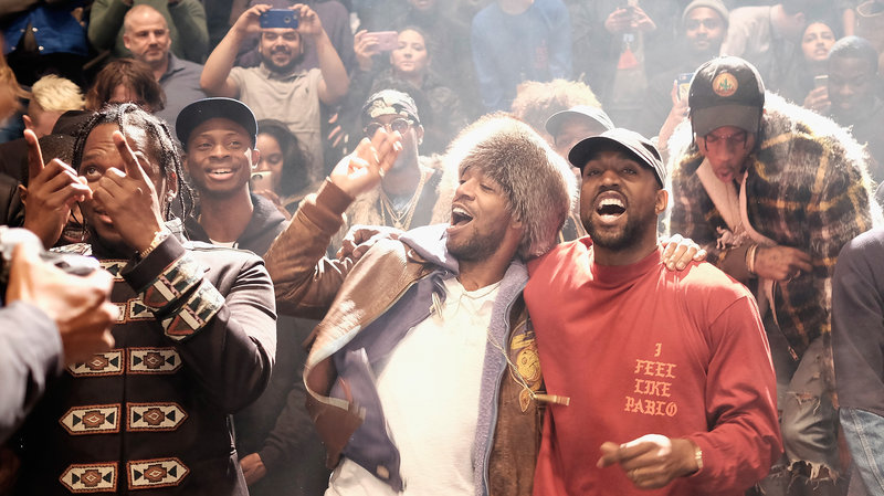 The Life of Pablo listening party at the height of Kanye's popularity.