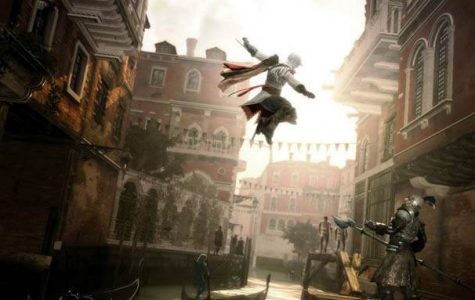 Ezio Auditore, about to finish his foe, Assassins Creed II.