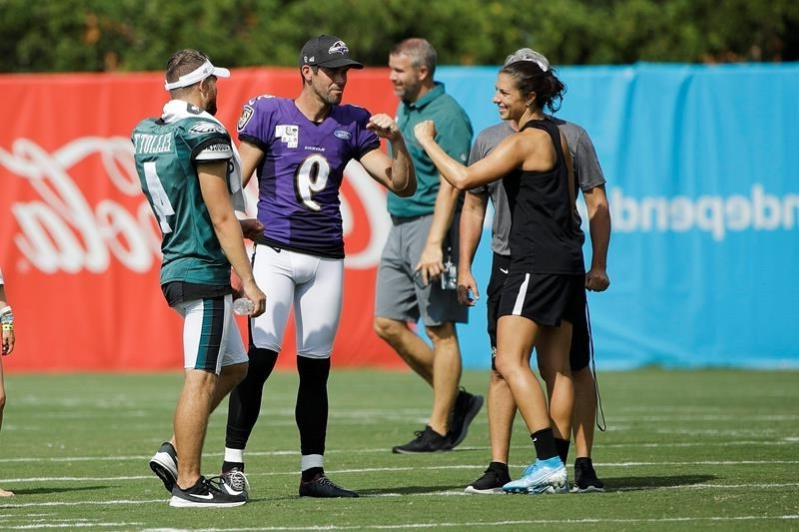 Lloyd+at+the+Baltimore+Ravens+and+Philadelphia+Eagles+practice+