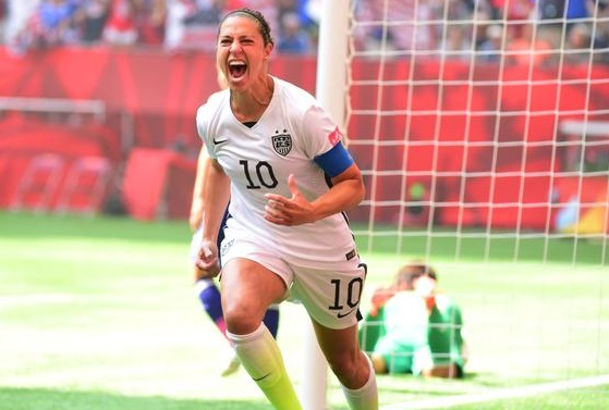 Carli+Lloyd+after+the+greatest+World+Cup+final+performance+ever+on+July+6%2C+2015