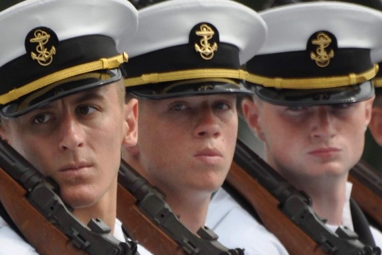 Gunnar Wall gives a death stare during his experience of plebe summer at the Naval Academy.