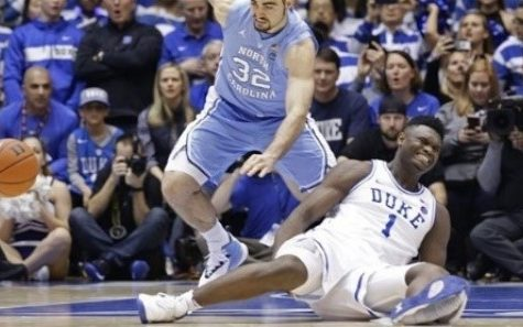 Zion Williamson splitting his shoe and spraining his knee