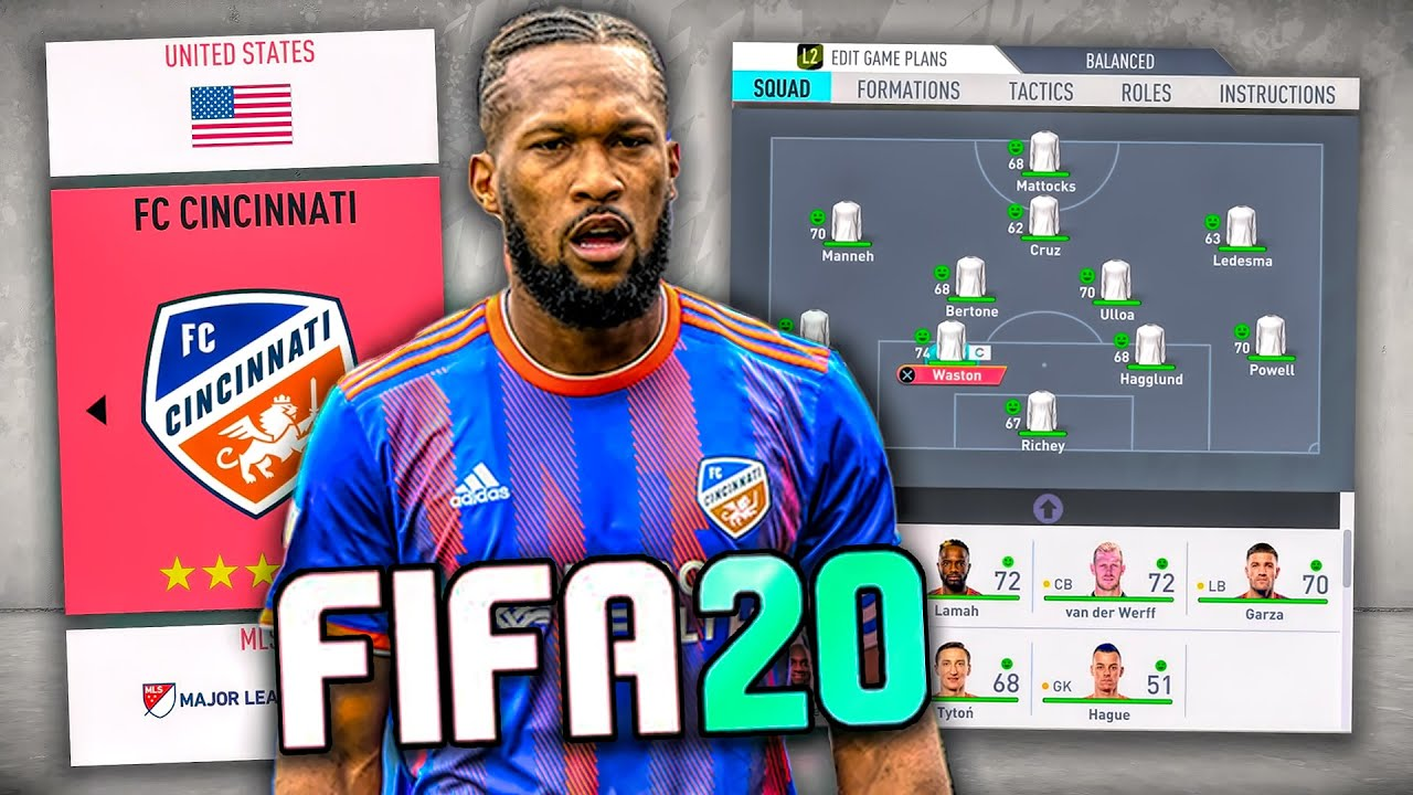 Kendall Waston and FC Cincinnati now available in FIFA 20. Photo Courtesy of BFordLancer48