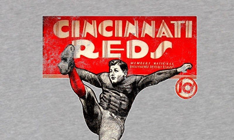 Program from the season of the Cincinnati Reds pro football team.