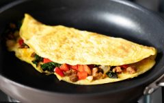 Omelet filled vegetables - great morning breakfast