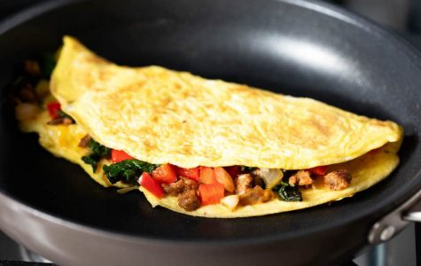 Omelet filled vegetables - great morning breakfast