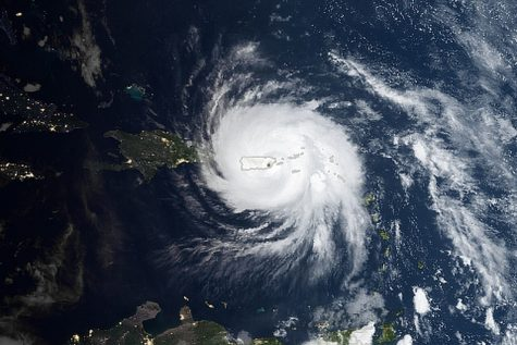 With global temperatures rising at unprecedented rates, we can expect more scenes like this one of hurricane Maria seen from the sky in 2017.