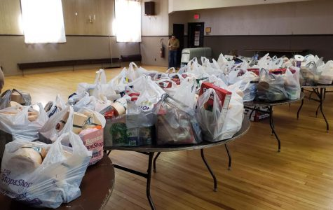 Food supplied from locals for families in need