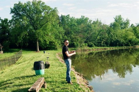 PVT TJ Icenogel fishing at Lake Gloria May 4, 2020  (part of my summer of 35mm photography)