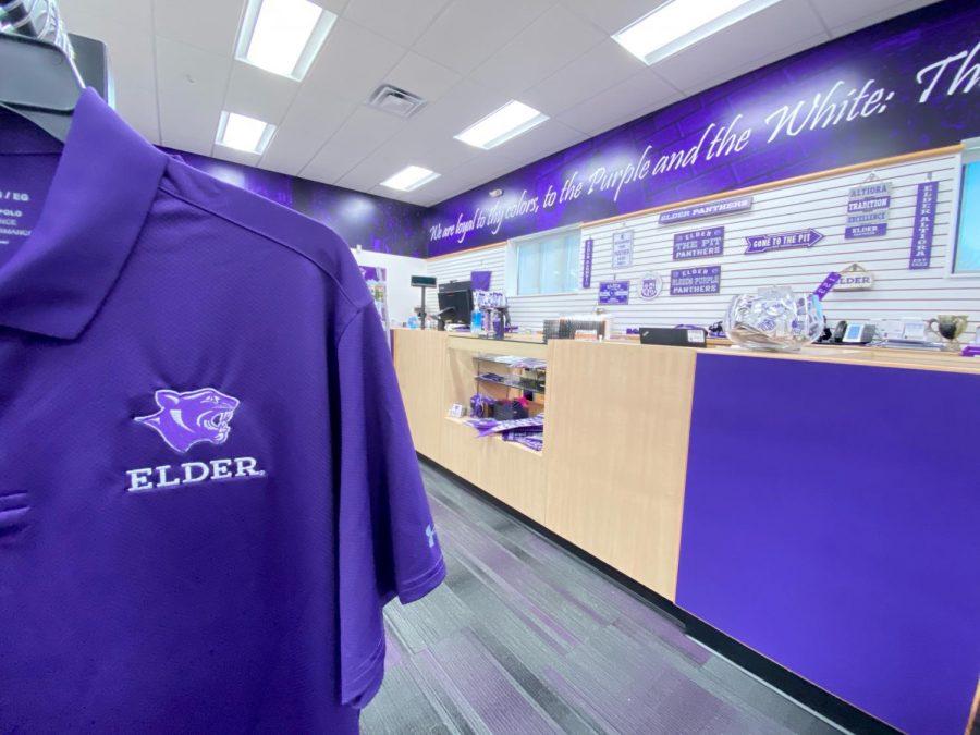 Elder's spirit store's front desk at an angle