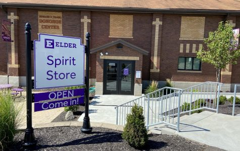 Elder spirit store's welcoming sign (new addition as of 2019)