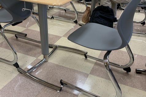 The new desks installed at Elder at the start of the 2020 school year