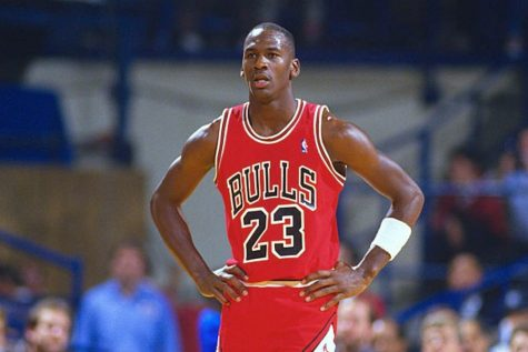 Michael Jordan focusing. Photo from insider.com