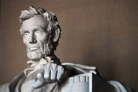 Statue of the 16th President of the United States, Abraham Lincoln inside the Lincoln Memorial in Washington, Thursday, November 30, 2017. The designer of the statue of Abraham Lincoln was Daniel Chester French and it was carved by the Piccirilli brothers. The memorial was dedicated in 1922. (AP Photo/NewsBase)