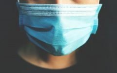 A photo of  someone wearing a mask due to Covid-19