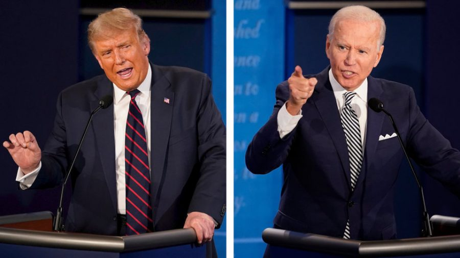 Donald Trump and Joe Biden take the stage in the first presidential debate.