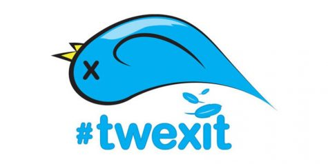 "A parody of the phrase ""Brexit,"" Parler started its own hastag, #twexit, to symbolize the movement of Twitter users over to the app."
