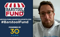 Barstool Sports President Dave Portnoy announcing the Barstool Fund