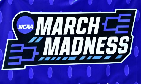 "Mar 20, 2019; Des Moines, IA, USA; A view of a ""March Madness"" banner during practice before the first round of the 2019 NCAA Tournament at Wells Fargo Arena. Mandatory Credit: Jeffrey Becker-USA TODAY Sports"