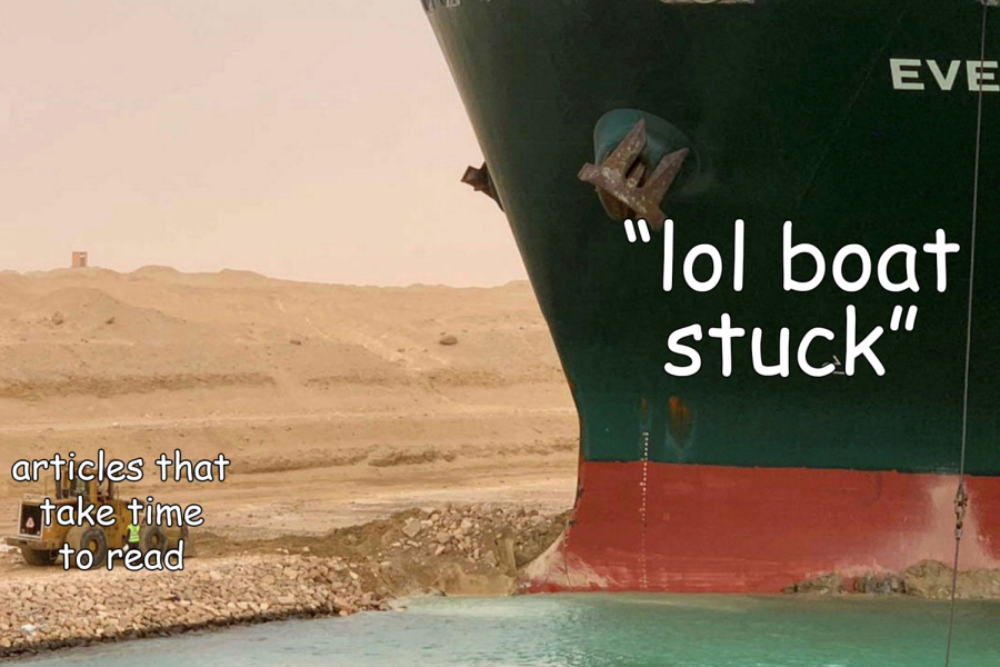 The Suez Canal and meme journalism