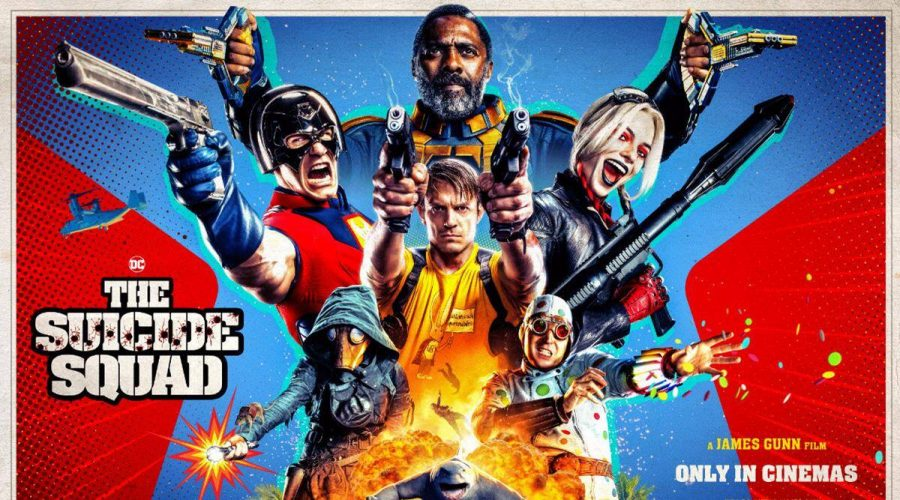 The movie poster exemplifies how action packed the movie The Suicide Squad is!